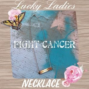 Jewelry - 🎀 Fight Brest Cancer Pink Ribbon Necklace Jewelry